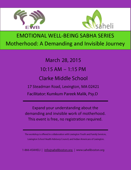 Saheli Hosts Emotional Well-Being Sabha Series