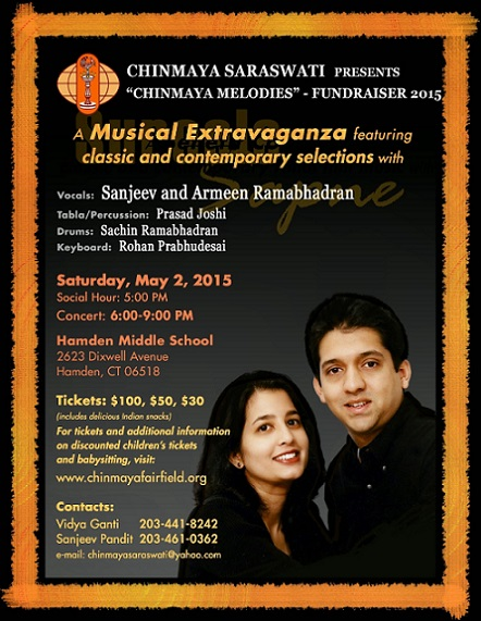 Chinmaya Mission Fairfield-New Haven To Host A<br>Musical Extravaganza Of Bollywood Music