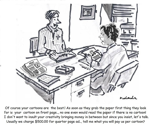 Cartoon: Cartoonist And Publisher