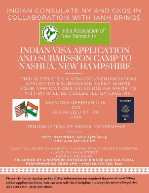 Indian Visa Application And Submission Camp