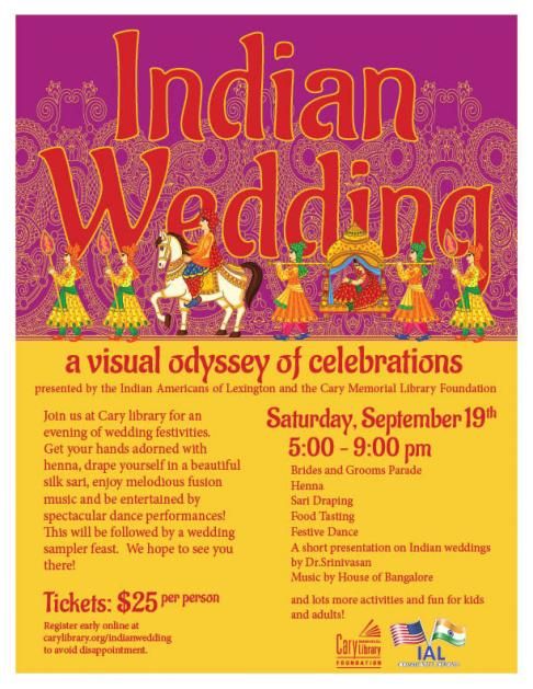 "Indian Wedding @ Cary - ""A Visual Odyssey Of Celebrations"""