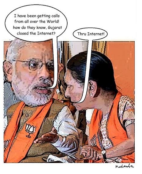 Cartoon: Internet Bandh