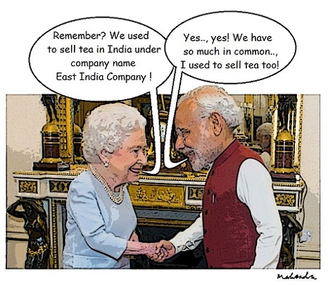 Cartoon: NAMO Meets Queen