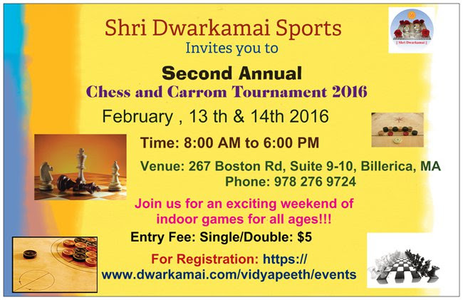 Dwarkamai Carrom & Chess Tournament
