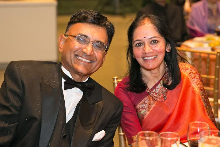 Special Recognition Award To Raj And Nalini Sharma At AIF Gala