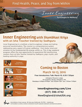 Inner Engineering - Shambhavi Kriya