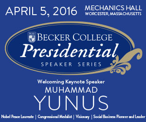 Becker College Presidential Speaker Series Featuring Dr. Muhammad Yunus