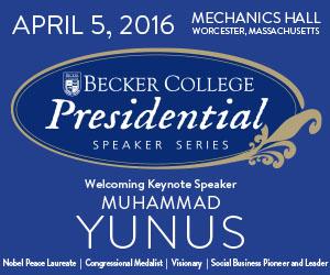 Becker College Presidential Speaker Series Featuring Dr. Muhammad Yunus