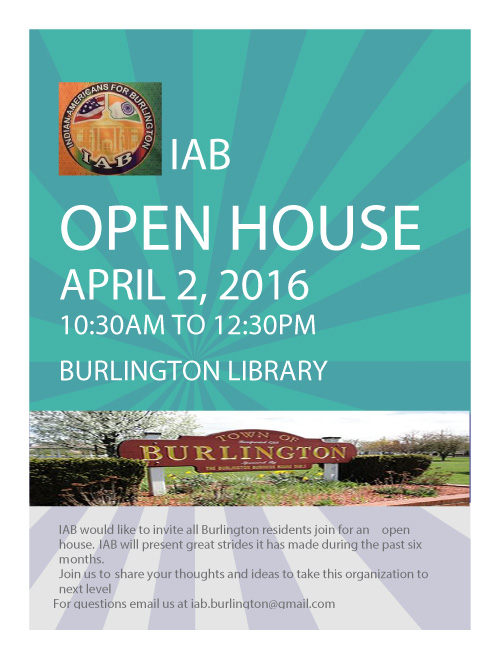 Indian Americans For Burlington Open House
