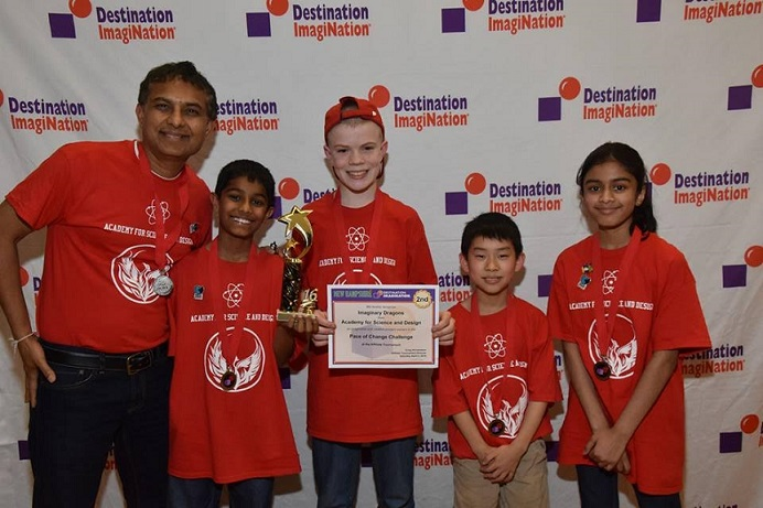 Team From Academy For Science And Design In DI Global Finals