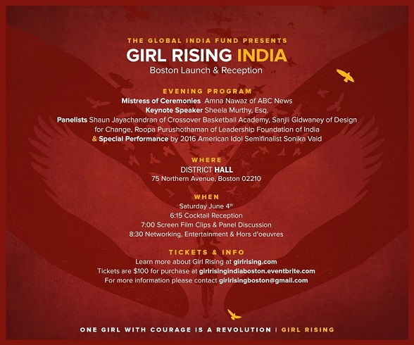 The Global India Fund Presents Girls Rising India
