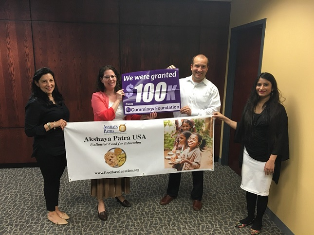 Akshaya Patra Usa Awarded $100,000 Grant For Mangalore India School Meal Program
