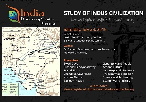 India Discovery Center Presents A Seminar On The Indus Civilization
