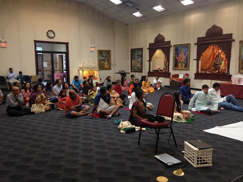 Vedic Graduation Pooja At Sarva Dev Mandir In Oxford, MA
