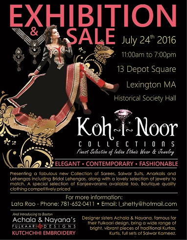 Kohinoor Collections Exhibition N Sale