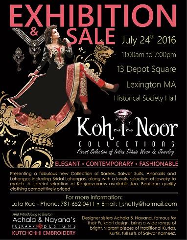 Kohinoor Collections Exhibition N Sale