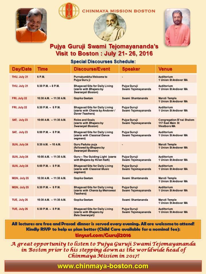 Bhagavad Gita For Daily Living At Chinmaya Boston