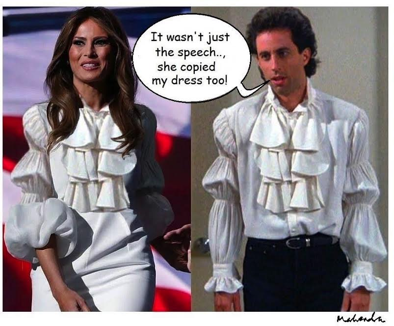 Cartoon: Melania And Seinfield