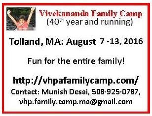 2016 Vivekananda Family Camp