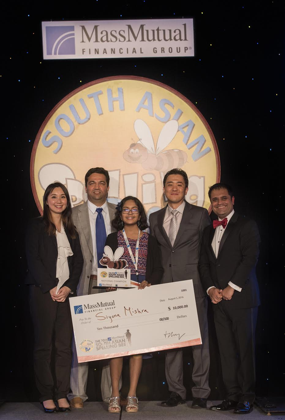 Siyona Mishra Wins 2016 MassMutual South Asian Spelling Bee