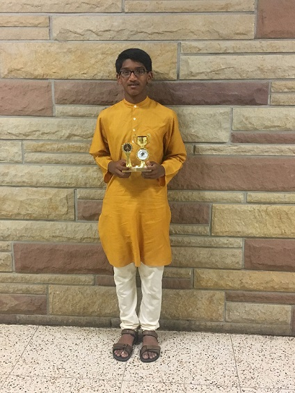 Inesh Vytheswaran Wins 1st Prize In The CMANA Competition