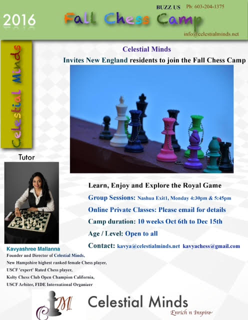 Celestial Minds: Fall Chess Camp