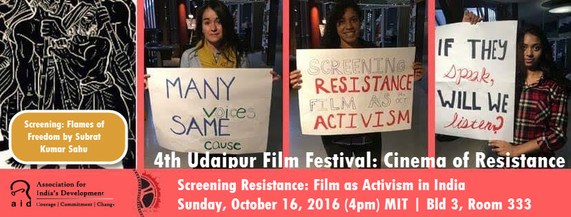 "AID Boston & MIT Present ""Screening Resistance: Film As Activism In India"""