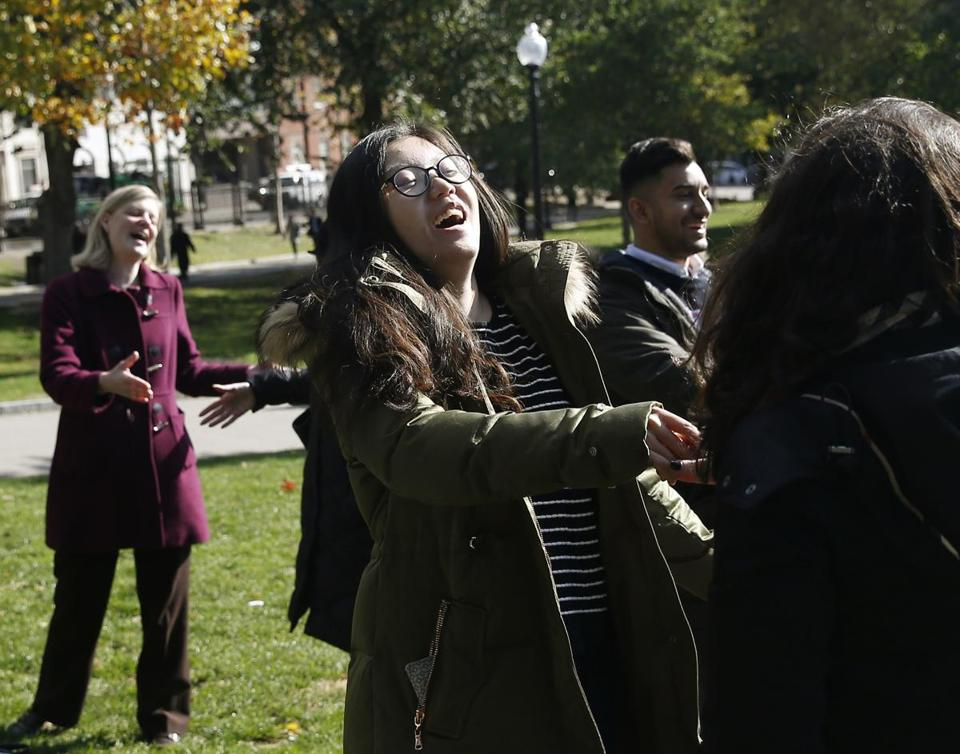 Inexplicable Laughter Breaks Out On Boston Common