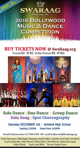 Swaraag's Thrilling Bollywood Music & Dance Competition