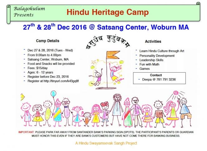 Hindu Heritage Camp At Satsang Center