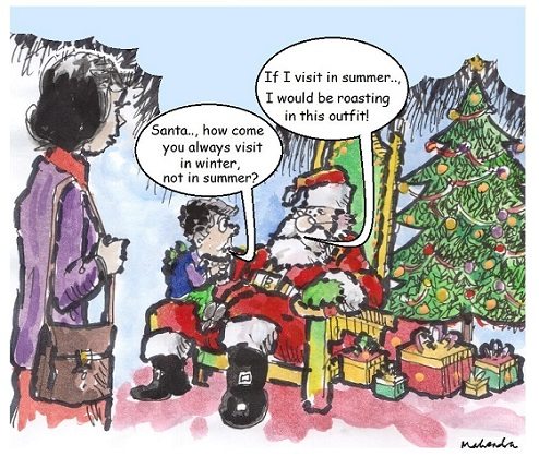 Cartoon: Santa In Summer