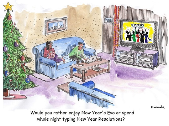 Cartoon: New Year Resolution