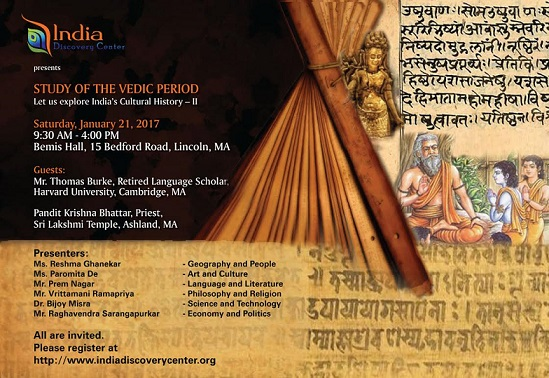 India Discovery Center To Sponsor 'Study Of The Vedic Period' Seminar