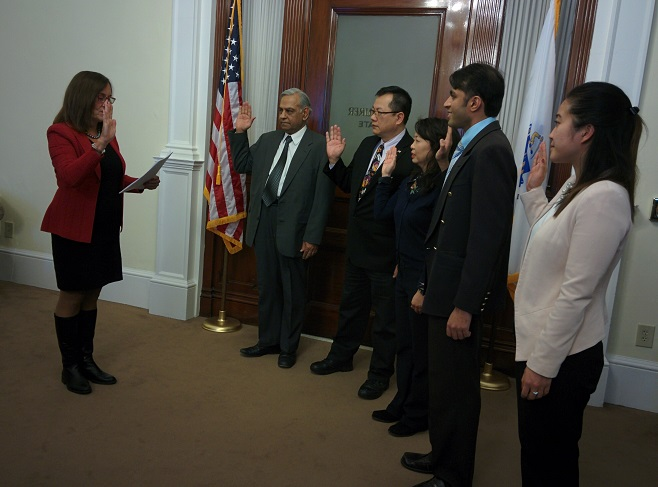 Asian American Commissioners Sworn In