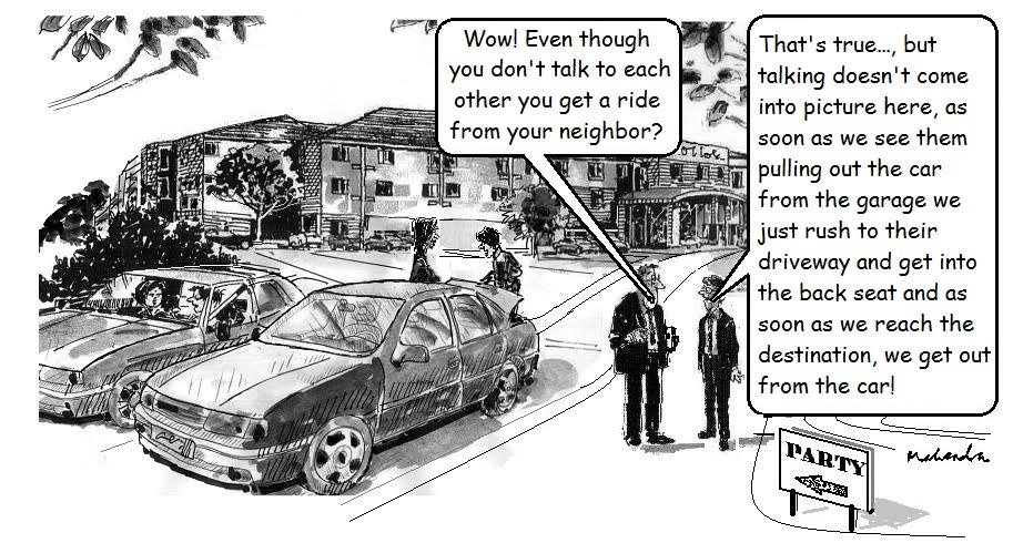 Cartoon: Neighbor's Ride
