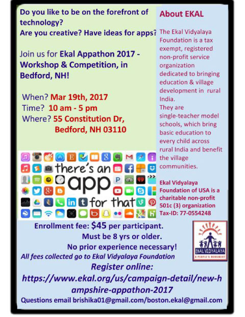 First Ever New Hampshire Ekal Appathon