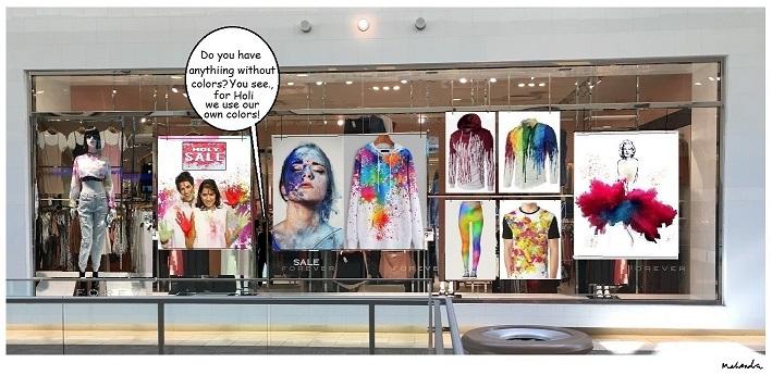 Cartoon: Holi Storefront