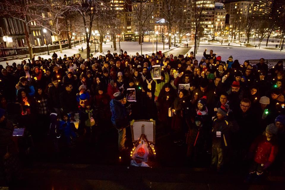 300+ Gather For Vigil In Memory Of Srinivas Kuchibhotla