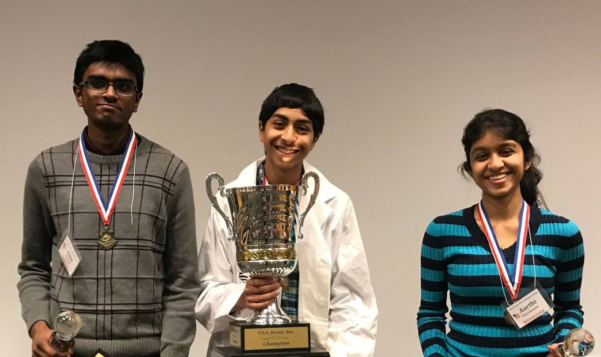 Wagle, Vijayakumar And Kannan Sweep  USA Brain Bee Championship