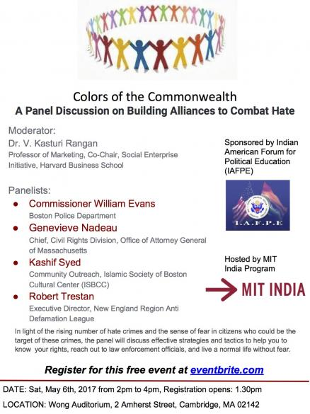 Colors Of The Commonwealth<br>A Panel Discussion On Building Alliances To Combat Hate