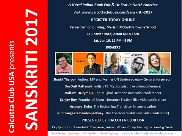 Calcutta Club To Host The Third Annual Sanskriti LitFest And Book Fair