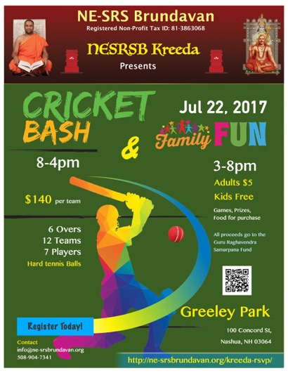 Cricket Tournament In Boston By NE SRS Brundavan
