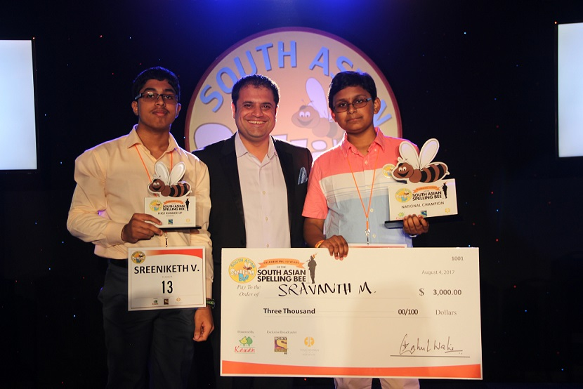 Sravanth Malla Wins 2017 South Asian Spelling Bee