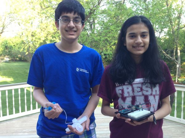Alekh And Serena Beri Of Westford Build Soft-robotics Prosthetic To Help Ailing Grandmother