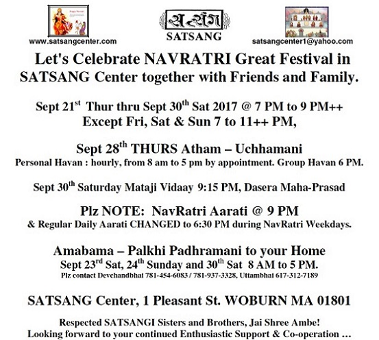 Navratri Celebrations At Satsang Center