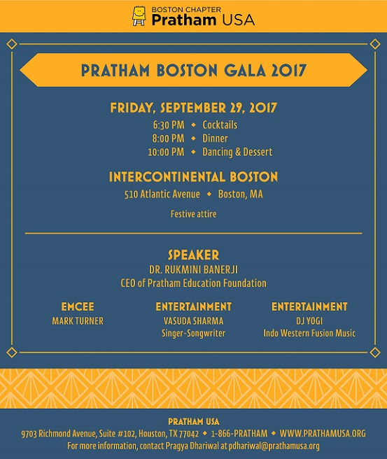 Help Eradicate Illiteracy And Poverty At Pratham Boston's Annual Fundraising Gala