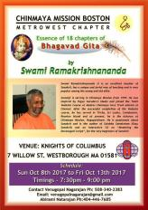 Chinmaya Boston Presents Essence Of 18 Chapters Of Bhagavad Gita