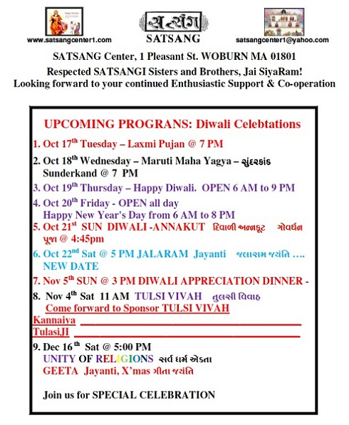 Diwali At Satsang Center