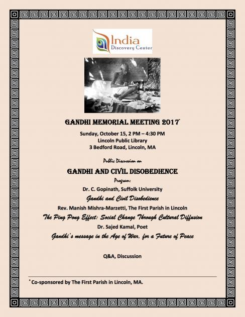 Gandhi Memorial Meeting
