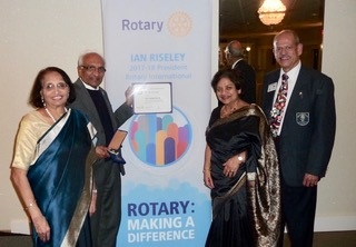 Dr. Dinesh Patel Named Paul Harris Fellow  By Rotary International